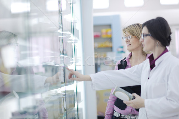 ストックフォト: 薬剤師 · 医療 · 薬物 · 薬局 · ドラッグストア