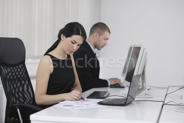 Stock photo: business people group working in customer and help desk office