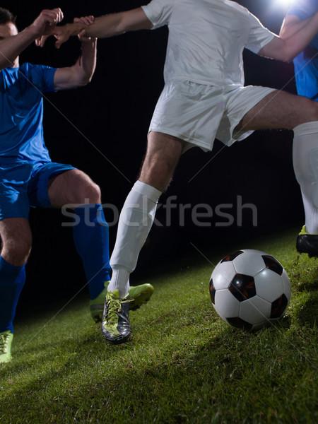 Футбол дуэль футбола команда игрок Сток-фото © dotshock