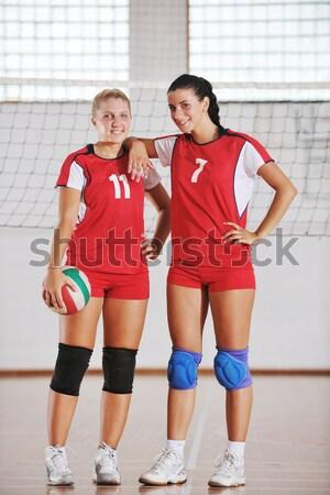 Voleibol jogo esportes grupo jovem belo Foto stock © dotshock