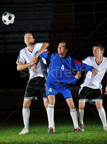 Calcio giocatori azione palla concorrenza eseguire Foto d'archivio © dotshock