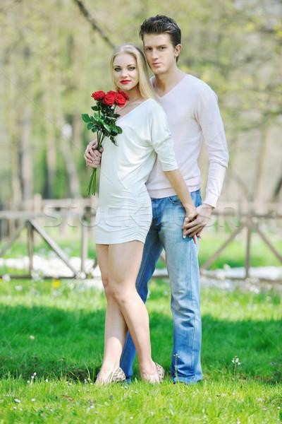 romantic couple in love outdoor Stock photo © dotshock