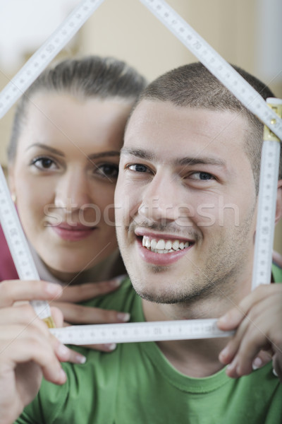 Movimiento nuevo hogar feliz mujer hombre Foto stock © dotshock