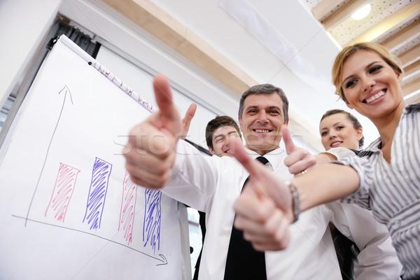ストックフォト: シニア · ビジネスマン · プレゼンテーション · 男性 · 会議 · 現代