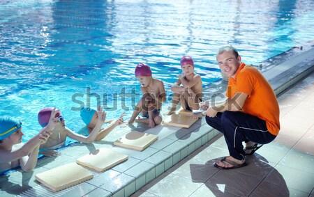 happy children group  at swimming pool Stock photo © dotshock