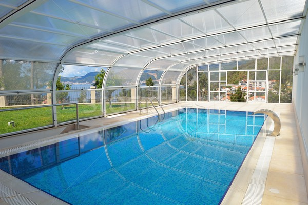 Piscina moderno casa água mar Foto stock © dotshock