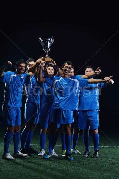 Fútbol jugadores victoria equipo grupo Foto stock © dotshock