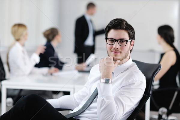 Сток-фото: портрет · красивый · молодые · деловой · человек · коллеги · люди