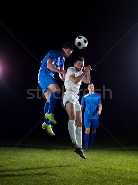 Football joueurs duel football équipe joueur Photo stock © dotshock