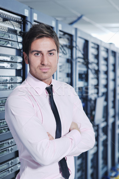 it engineers in network server room Stock photo © dotshock