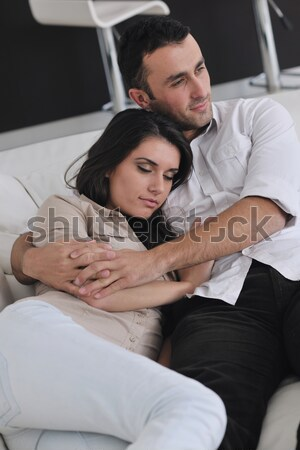 young couple have good time in their bedroom Stock photo © dotshock