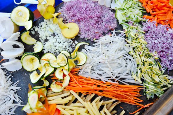 Gemengd groenten vers gezonde plakje Stockfoto © dotshock