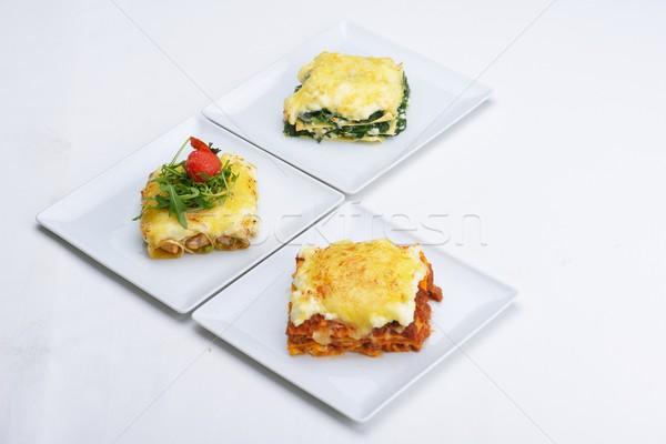 Lasagne primo piano tradizionale lasagna carne Foto d'archivio © dotshock