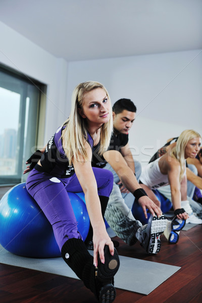 Stock photo: fitness group