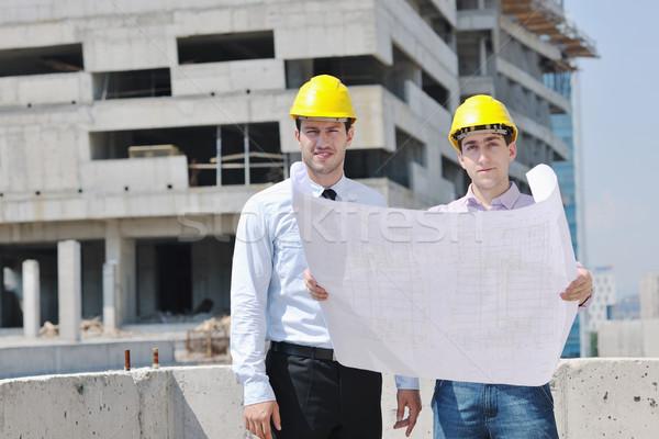 Сток-фото: команда · деловые · люди · группа · архитектора · проверить