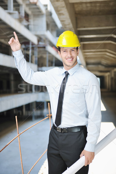 architect on construction site Stock photo © dotshock