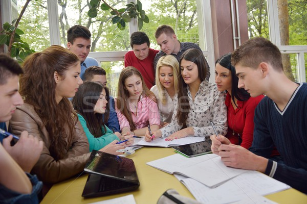 teens group in school Stock photo © dotshock