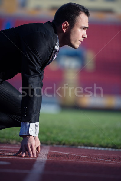 business man ready to sprint Stock photo © dotshock