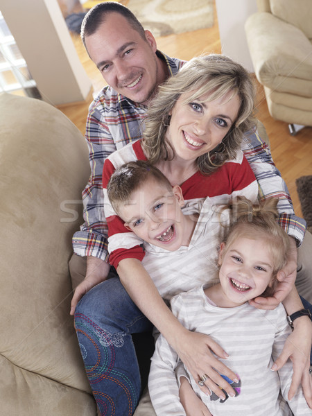 happy young family at home Stock photo © dotshock