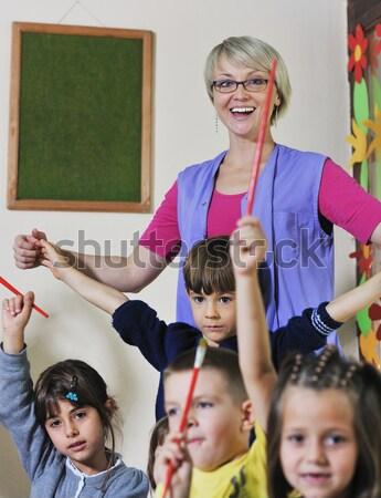 узнать биологии школы счастливым детей группа Сток-фото © dotshock