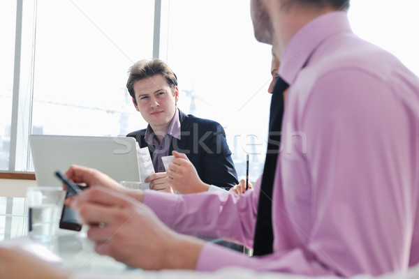 Stock photo: group of business people at meeting