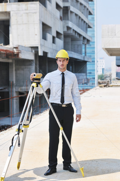 architect on construction site Stock photo © dotshock