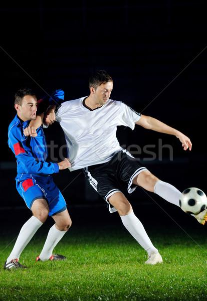ストックフォト: サッカー · プレーヤー · アクション · ボール · 競争 · 実行