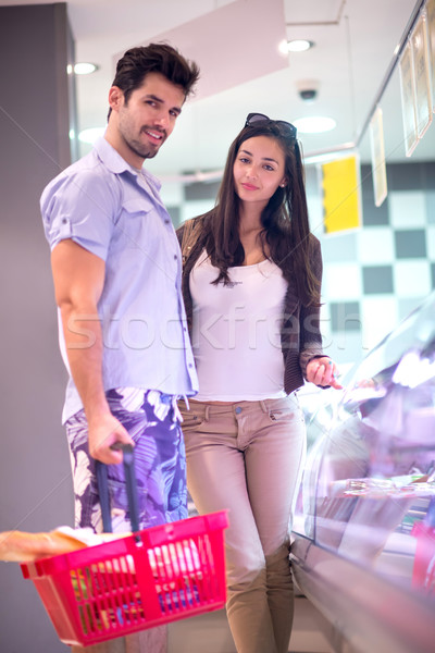 Stock photo: couple shopping in a supermarket