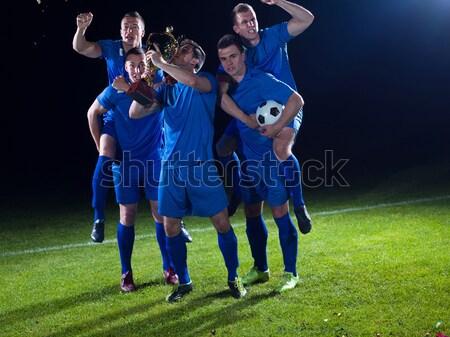 行動 足球運動員 踢 球 足球 商業照片 © dotshock