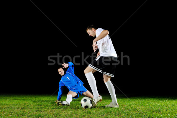 Сток-фото: футбола · действий · мяча · конкуренция · запустить