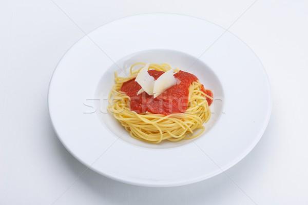 Stock fotó: Olasz · spagetti · bolognai · szósz · paradicsomok · hús · sajt
