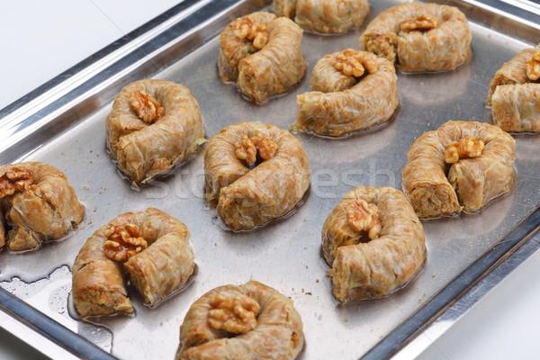 turkish baklava dessert Stock photo © dotshock