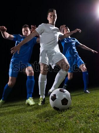 Torhüter Fußballer Menschen Fußball Stadion Wiese Stock foto © dotshock