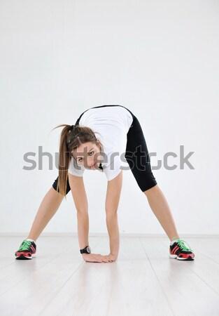 Личный тренер человека фитнес спорт клуба счастливым Сток-фото © dotshock
