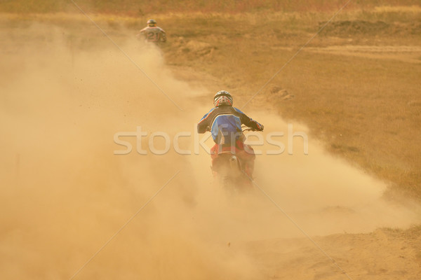 Stockfoto: Motorcross · fiets · race · snelheid · macht · extreme