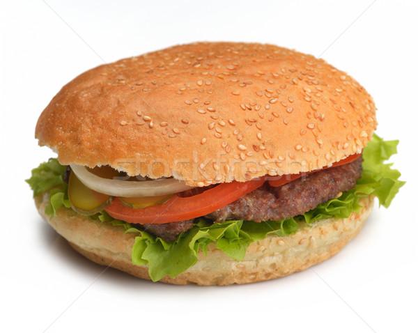 ハンバーガー 静物 ファストフード メニュー フライドポテト ソフトドリンク ストックフォト © dotshock