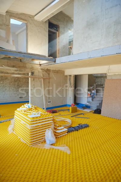加熱 黄色 建設 建物 水 作業 ストックフォト © dotshock