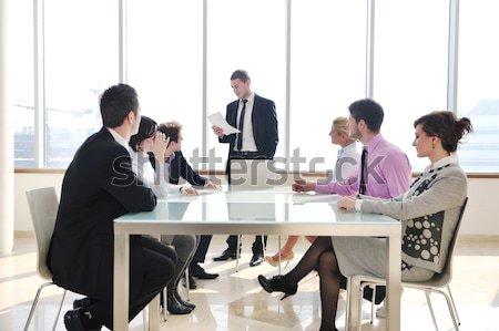 Photo stock: Groupe · gens · d'affaires · réunion · jeunes · salle · de · conférence · nouvelle