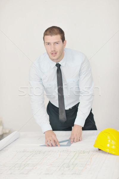 Zdjęcia stock: Architekta · budowa · budowy · projektu · człowiek · biznesu · inżynier