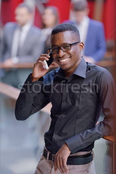 Photo stock: Affaires · heureux · souriant · réussi · costume