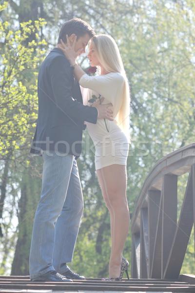 Romantique couple amour extérieur heureux jeunes Photo stock © dotshock
