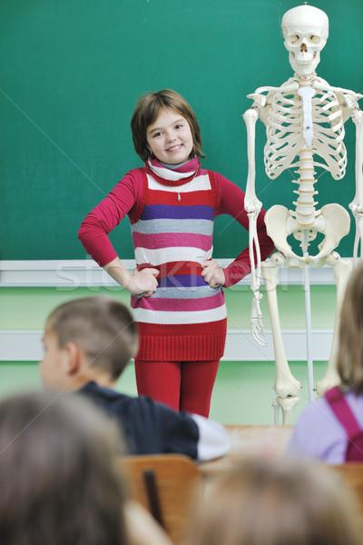 Aprender biologia escolas feliz crianças grupo Foto stock © dotshock