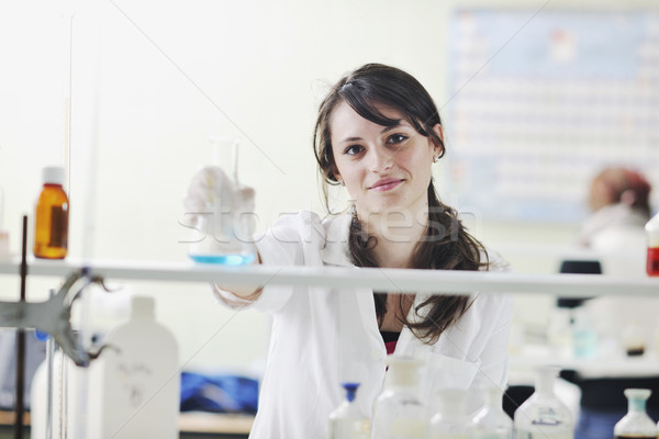 young woman in lab Stock photo © dotshock