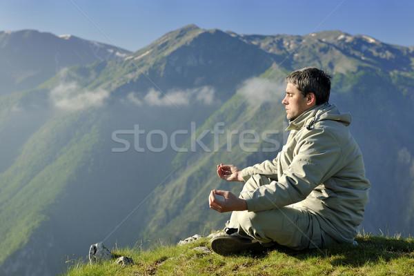 Stock photo: fresh sunrise at mountain