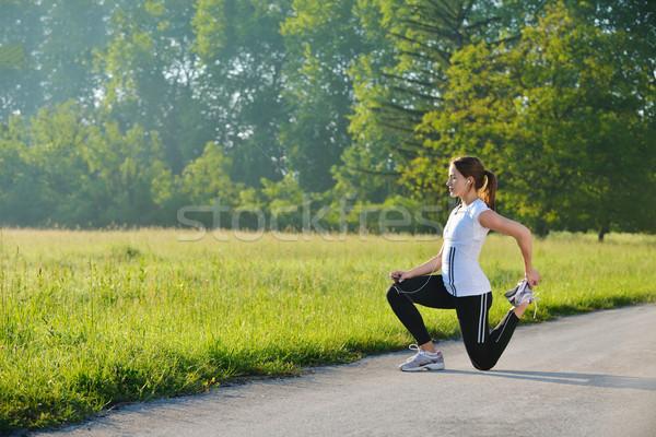Сток-фото: женщину · фитнес · здорового · осуществлять