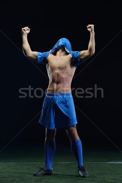 Voetballer kick bal voetbal stadion veld Stockfoto © dotshock