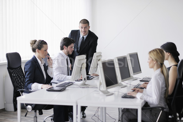 business people group working in customer and help desk office Stock photo © dotshock