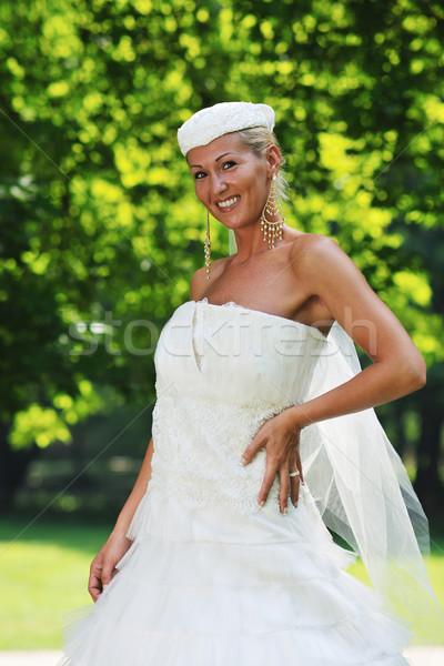 Hermosa novia al aire libre mujer personas moda Foto stock © dotshock