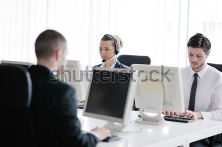 business people group working in customer and helpdesk office Stock photo © dotshock