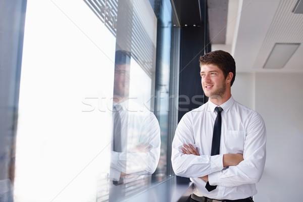 Zdjęcia stock: Człowiek · biznesu · spotkanie · koledzy · portret · przystojny · młodych
